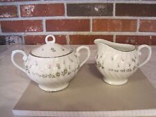 STYLE HOUSE FINE CHINA PICARDY SUGAR DISH AND CREAMER