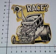 ED ROTH RACE ? Aufkleber Sticker Retro Oldschool Auto Rennen US Hot Rod V8 Mi071