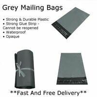 50 x STRONG QUALITY GREY POLY MAILING BAGS POSTAGE POSTAL SELF SEAL - 18 SIZES!