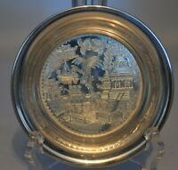 """Silver Plated Bowl Asian Design Made in England 5"""""""