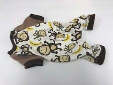 FITWARM Puppy Clothes Monkey Dog Pajamas Bananas Brown Small One-Piece Fitwarm