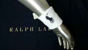 Polo Ralph Lauren LIMITED EDITION pony Terry Sweatbands/Tennis Wristband 2pcs