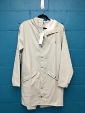 Women's Rain Long Jacket Size S Beige Polyester