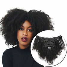 Afro Kinky Curly Clip in 100% Virgin Human Hair Weave Mongolian Hair Extensions