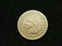 MUST GO SALE!!  1884 INDIAN HEAD CENT PENNY * NICE COLLECTIBLE U.S. COIN #16H