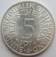 Top! 5 DM 1974 G en Extremely Fine / Brillant Uncirculated