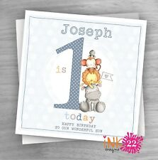 Personalised Handmade Card Baby 1st First Birthday Son Grandson Nephew Cute