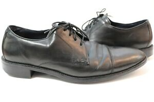 Cole Haan Lenox Hill C11630 Cap Toe Leather Oxfords Men's Size 10M Black
