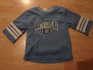 Youth North Carolina UNC Tar Heels Sz 4 Vintage Football Jersey