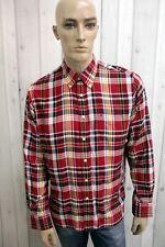 Camicia TOMMY HILFIGER Uomo Taglia L Chemise Cotone Shirt Casual Manica Lunga