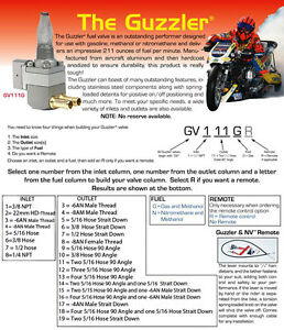 Pingel Guzzler Race fuel tap. Quad 5/16 outlet. 3/8 NPT tank fitting.