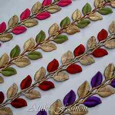 Royal Leaves --- Cotton Silk Embroidered Trim *1/2 yard* Costumes Appliques Tops