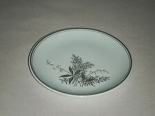 "VINTAGE LADY EMPIRE DINNERWARE PERMACAL 6.25"" SALAD PLATE GREEN W LILLY VALLEY"