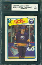 1988 89 TOPPS #194 PIERRE TURGEON RC ROOKIE KSA 9 MINT!! SABRES