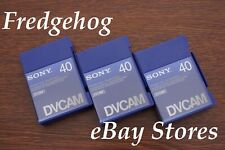 3 x SONY PDVM-40 PROFESSIONAL MINI DV / DVCAM DIGITAL CAMCORDER TAPES/ CASSETTES