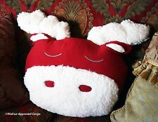 POTTERY BARN KIDS COZY, COMFY MOOSE PILLOW -NWT- HOOF IT FOR SOME HOLIDAY FUN!
