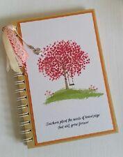 Teacher's Notebook Dairy journal handmade copertina rigida in bianco Regalo di Natale A5