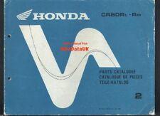 CR Honda Motorcycle Parts Catalogues