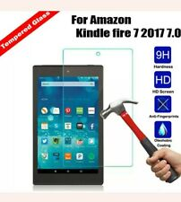 """Genuine Tempered Glass Screen Protector For AMAZON KINDLE FIRE 7"""" inch 2015/2017"""