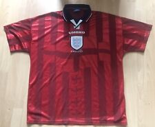 ENGLAND 1998 WORLD CUP UMBRO RED AWAY SHIRT XL