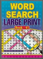 4 A4 WORD SEARCH BOOKS LARGE PRINT 64 PUZZLES IN EACH BOOKS 41-42-43-44 FREE P/P