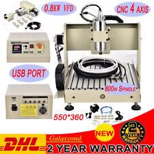 USB 4 ASSI MACCHINA INCISIONI 3040 CNC LAVORAZIONE LEGNO 800W Drilling Milling