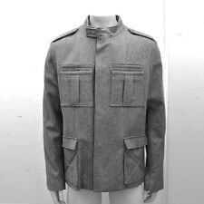 NEW Mens Dior Homme Grey Zip Casual Warm Wool Tweed Jacket Coat Top Size: 52 XL