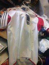ADIDAS T Shirt Trois Rayures Polyester 34/36 à £ 8 rouge/blanc X/LRRP £ 18.99