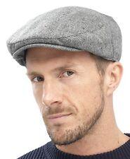 Tom Franks Mens Traditional Flat Cap Grey Large / X-large