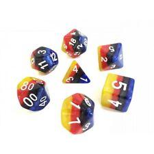 HD DICE rpg 4 Color Grandient Yellow, Red, Black, Blue 7 dice set D&D new!!!