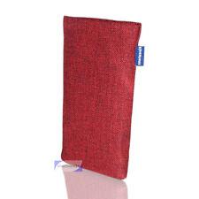 Samsung S4 étui pour téléphone portable Chaussette housse coque Tramé ROUGE-VIN