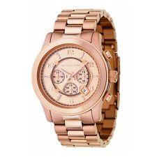 Relojes de pulsera de oro rosa de cronógrafo de hombre