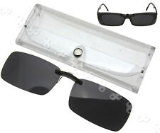 Polarised Clip On Sunglasses UV400 Polarized Fishing Driving Eyewear & Case