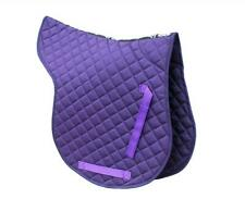 Rhinegold Cotton Quilted GP Numnah in Purple