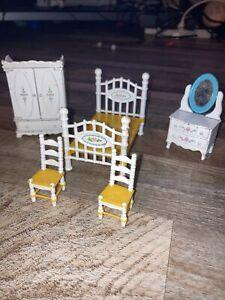 VINTAGE MATTEL LITTLES Metal Dollhouse Furniture Lot 5pc 1980'