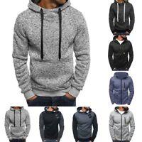 New Sweatshirt Men Hoodies Winter Solid Hip Hop Coat Casual Tracksuit Pullovers