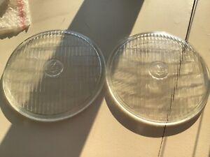 "PAIR ORIGINAL NOS LUCAS FOGLAMP FOGLIGHT 700 FLAT GLASS 7"" LENSES CLASSIC CAR"