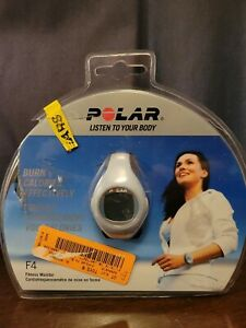Polar F4 Blu Ice Fitness Heart Rate Monitor  NEW OPEN Package~needs battery!!!
