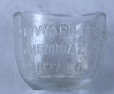 Vintage Glass Eye Wash Cup Clear Optical Howard Bros Chemical Co Pettit's Eye NY