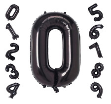 84 cm Black Foil Number Balloon Birthday Wedding Helium Quality