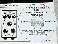 Bruel & Kjaer 2635 Vibration Amplifier, Operating & Service w/Schematics (2 Vol)