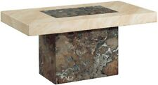 New Venice Dark Brown / Cream & Cappuccino Marble Rectangular Coffee Table