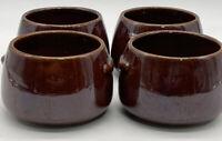 Vtg Stoneware West Bend Bowls (4) Used With Bean Pot Set MCM