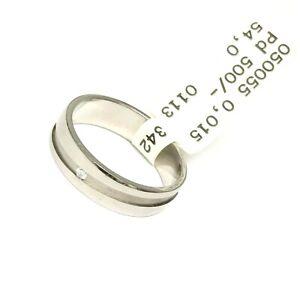 Trauringe Liebe hoch zwei Damen Ring Palladium Diamant 0.015ct  0500551131P254