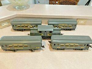 Rare IVES Train, Standard Gauge, Engine 3242 + 4 Cars (184, 185, 186) Beautiful
