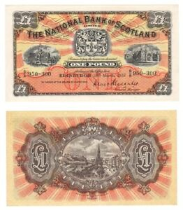 1957 National Bank of Scotland Ltd £1 Banknote - BYB ref: SC503e - UNC.
