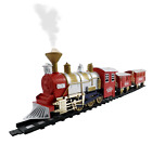Classic Train Set for Kids with Smoke, Realistic Sounds, 3 Cars and 11 Feet of