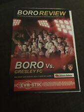 Scarborough Athletic V Gresley FC 2013 Soccer/football Programme