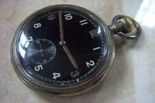 A WW2 G.S.T.P. BRITISH MILITARY POCKET WATCH c.EARLY 1940'S NEEDS A SERVICE
