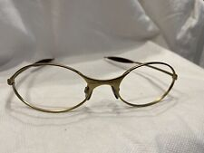 Genuine NOS Oakley Matte Gold E-Wire Sunglasses Frames-USA